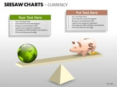 Business Finance Strategy Development Seesaw Charts Currency Marketing Diagram