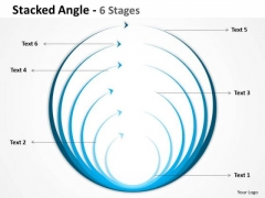Business Finance Strategy Development Stacked Angle Blue Round Shapes Sales Diagram