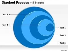 Business Finance Strategy Development Stacked Process 5 Step Sales Diagram