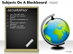 Business Finance Strategy Development Subjects On A Blackboard Marketing Diagram