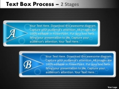 Business Finance Strategy Development Text Box Process 2 Stages Business Framework Model
