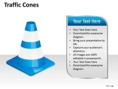 Business Finance Strategy Development Traffic Cones Business Diagram