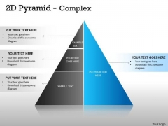 Business Framework Model 2d Pyramid Complex Design With 3 Stages Sales Diagram