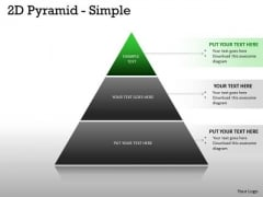 Business Framework Model 2d Pyramid With Simple Structre Business Diagram
