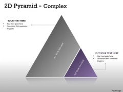 Business Framework Model 2d Pyramid With Two Stages Strategy Diagram