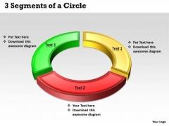 Business Framework Model 3 Segments Of A Circle Strategic Management