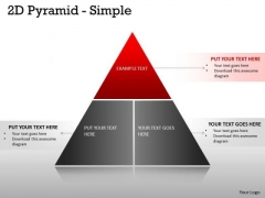 Business Framework Model 3 Staged 2d Pyramid Diagram Consulting Diagram