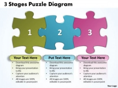 Business Framework Model 3 Stages Puzzle Diagram Strategic Management