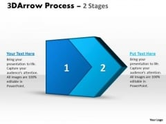 Business Framework Model 3d Arrow Process 2 Stages 1
