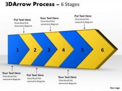 Business Framework Model 3d Arrow Process 6 Stages Sales Diagram
