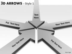 Business Framework Model 3d Arrows Style 1 Business Diagram