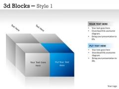Business Framework Model 3d Blocks Style 1 Sales Diagram