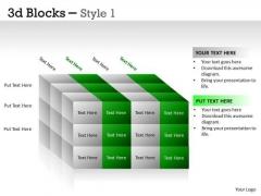 Business Framework Model 3d Blocks Style Sales Diagram