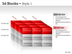 Business Framework Model 3d Blocks Style Strategic Management