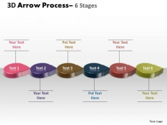 Business Framework Model 3d Circle Arrow 6 Stages Marketing Diagram