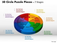 Business Framework Model 3d Circle Puzzle Diagram 7 Stages Marketing Diagram