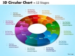 Business Framework Model 3d Circular Chart 12 Stages Business Diagram