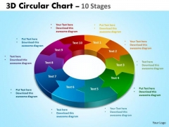 Business Framework Model 3d Circular Chart Flow Stages Sales Diagram