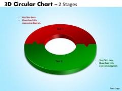Business Framework Model 3d Circular Diagram Chart 2 Stages Marketing Diagram