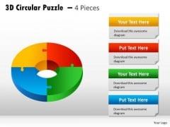 Business Framework Model 3d Circular Puzzle Diagram Business Diagram