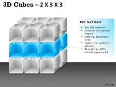 Business Framework Model 3d Cubes 2x3x3 Mba Models And Frameworks