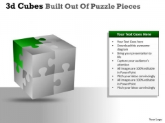 Business Framework Model 3d Cubes Built Out Of Puzzle Pieces Mba Models And Frameworks