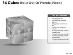 Business Framework Model 3d Cubes Built Out Of Puzzle Pieces Sales Diagram