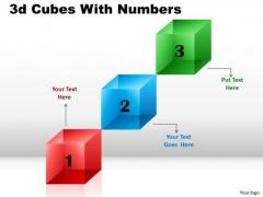 Business Framework Model 3d Cubes For Linear Process Business Diagram
