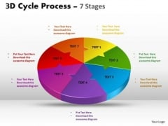 Business Framework Model 3d Cycle Process Flow Chart 7 Stages Sales Diagram