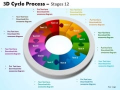 Business Framework Model 3d Cycle Process Flowchart Flow Style Business Diagram