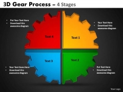Business Framework Model 3d Gear Process Business Diagram