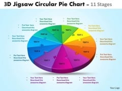 Business Framework Model 3d Jigsaw Circular 11 Stages Business Diagram