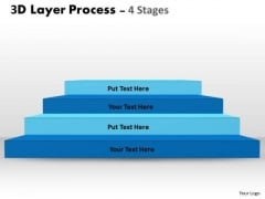 Business Framework Model 3d Layer Process For Marketing Business Diagram