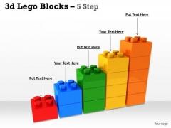 Business Framework Model 3d Lego Blocks 5 Step Business Finance Strategy Development