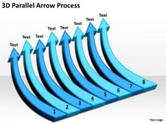 Business Framework Model 3d Parallel Arrow Process Marketing Diagram