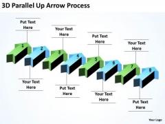 Business Framework Model 3d Parallel Up Arrow Process Business Finance Strategy Development