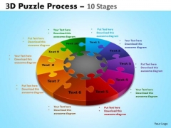 Business Framework Model 3d Puzzle Process Diagram 10 Stages Consulting Diagram