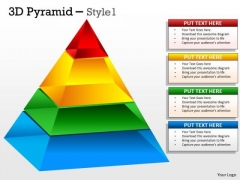 Business Framework Model 3d Pyramid With 5 Stages Consulting Diagram