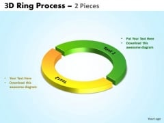 Business Framework Model 3d Ring Process 2 Pieces Consulting Diagram