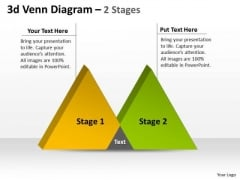 Business Framework Model 3d Venn Diagram 2 Stages Marketing Diagram