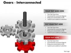 Business Framework Model 7 Gears Interconnected Sales Diagram