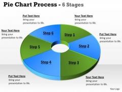 Business Framework Model Analogy Of Business Financial Information Pie Donut Sales Diagram