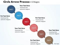 Business Framework Model Arrow 6 Stages Business Finance Strategy Development