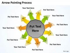 Business Framework Model Arrow Pointing Process Strategy Diagram