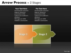 Business Framework Model Arrow Process 2 Stages