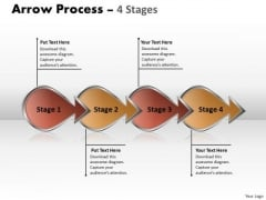 Business Framework Model Arrow Process 4 Stages 4 Business Diagram