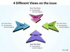 Business Framework Model Arrows 4 Sales Diagram
