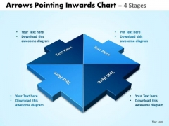 Business Framework Model Arrows Pointing Inwards Chart 4 Business Diagram