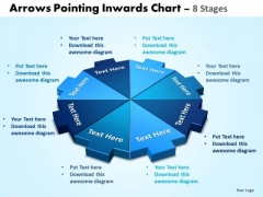 Business Framework Model Arrows Pointing Inwards Chart 8 Stages Strategy Diagram