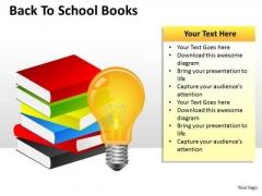 Business Framework Model Back To School Books Business Diagram